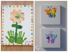 Handprint, footprint art