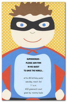 super hero invites