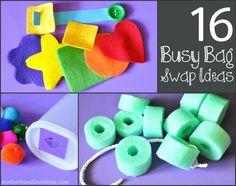 16 Busy Bag Ideas for a Busy Bag Swap