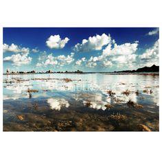 Wall decor  Serene Seascape photo reflection print by gonulk  #HomeDecor #WallDecor #WallArt #photography #Art #Etsy #Print #ArtPrint #HomeDecorating #photo #artprint #roominteriordecoration #photoprint #housewarming #landscape