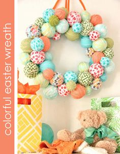 love this Easter Egg wreath tutorial by The Party Dress