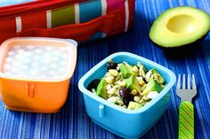 This Avocado Orzo Salad is perfect for lunch or dinner and features feta cheese, kalamata olives, pine nuts, avocados, and fresh dill http://mealmakeovermoms.com/kitchen/2014/08/25/orzo-pasta-salad/