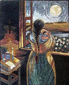 """❤ - """"Amor a Todas Horas"""" by Simon Silva marble mosaic"""
