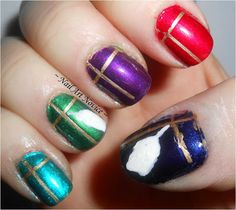 12 Days Of Christmas Nail Art 1-Presents