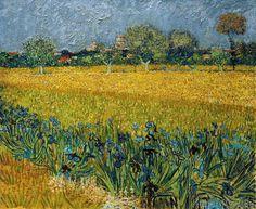 Vincent van Gogh - Blick auf Arles mit Irisblüten im Vordergrund