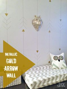 metallic gold arrow