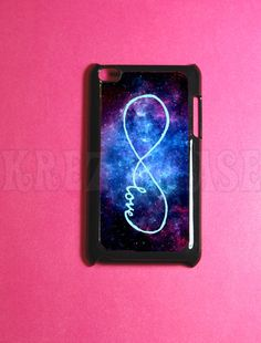 Ipod Touch 4 Case - Forever love - infinity Nebula Ipod 4G Touch Case, 4th Gen Ipod Touch Cases. $16.95, via Etsy.