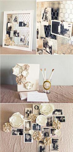 vintage photo display.