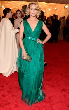 """""""Glee's"""" Dianna Agron goes gree on the red carpet of the MET Gala in NYC. See full gallery here: http://bit.ly/ISkhB2"""