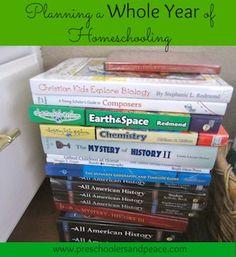 Planning a Whole Year of Homeschooling, PartOne www.preschoolersandpeace.com