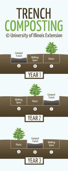 Basic 3-Year Trench Composting Cycle | From University of Illinois Extension