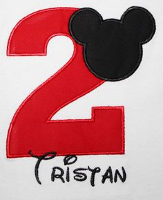 Mickey Mouse Birthday Shirt Personalize by kajanuary1 on Etsy, $18.00