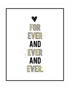 for ever and ever and ever