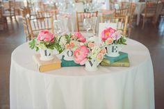 put books on sweetheart table