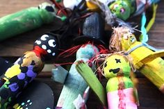 wood peg doll zombies
