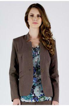 Blazer de lã de alfaiataria - TVZ Moda Online