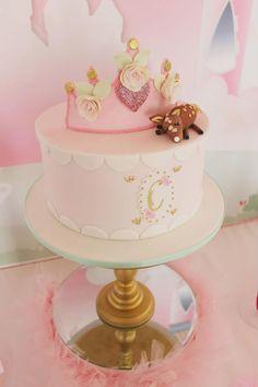 LOVE this cake at this Princess Party! So Many Darling Ideas via Kara's Party Ideas   KarasPartyIdeas.com #PrincessParty #Ideas #PrincesspartySupplies #princesscake
