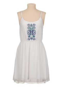 high-low Embroidered tank dress - maurices.com
