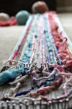 loom scarf tutorial.