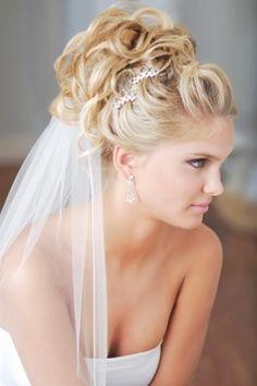 wedding veil under hair | Wedding Hairstyles With Veil | Nifty Hair Styles
