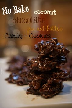 no bake chocolate coconut peanut butter cookies