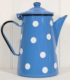 french coffee pot.... polka dots for nanna