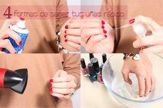 4 Formas de secar tus Uñas Rápido