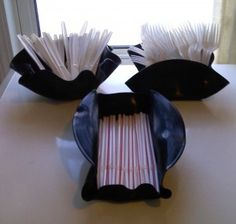50's Party - Ideas for bowls/containers to make using records with a link to how to do it