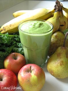 Any Green Winter Green Smoothie #EatingVibrantly