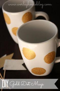Gold Dot Mugs