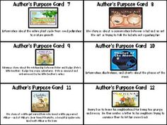 Author's Purpose Task Cards & Scoot Game$