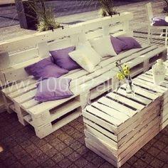 craft, idea, spool, 1001 pallet, gardens, pallets, cafe garden, diy, crates