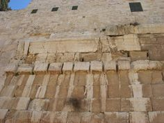 Robinson's Arch contains original stones over which Jesus walked.