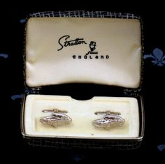 STRATTON England Vintage Gents Cufflinks James Bond Aston Martin Original Box