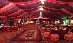 Arabian Night wedding tent