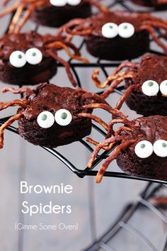 Brownie Spiders | gimmesomeoven.com