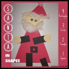Santa in Shapes