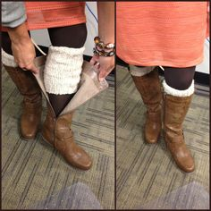 What to do with those old sweaters and a cute pair of boots?  check it out!