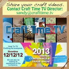 Share Your Craft Videos on Craft Time TV