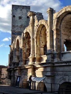 circa 50 AD Roman Colosseum in Arles ~ France
