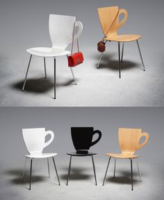 Cup seats would be so cute in a tea or coffee shop!