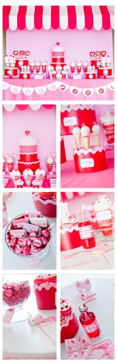 valentine sweet shoppe candyland birthday party dessert table