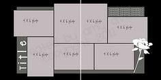 2 page layout, 7 photo, Photos: 3 vertical 4 horizontal