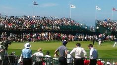 """""""Life at the @PGAChampionship is pretty good, with this view of 18 green, from the clubhouse veranda!,"""" tweeted PGA Professional Gary Koenes, and we couldn't agree more."""