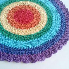 rainbow #crochet mandala from corazónalsol