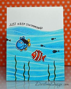 Just Keep Swimming - with video tutorial.