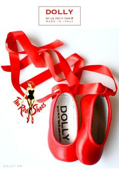 The Red shoes from Dolly by Le Petit Tom ® Handmade in Italy. Italian Babyshoes, italiaanse babyschoentjes