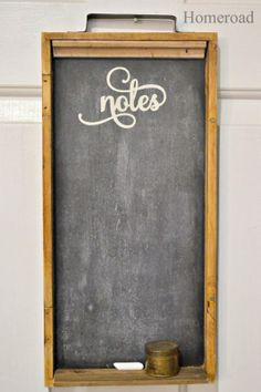 Backgammon Chalkboard Shelf www.homeroad.net