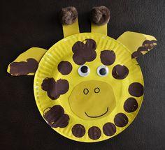 heart, zoo, paper plate crafts, papers, book crafts, preschool, paper plates, kid, giraffes