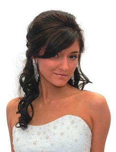 hair down, bridesmaid hair, bats, long hair, hair wedding, wedding hairs, bangs, bat mitzvah hairstyles, curly hair